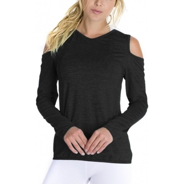 'About Last Night'' Long Sleeve Fitness Fashion Top