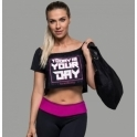 'All About Me' Off Shoulder Gym Crop Top
