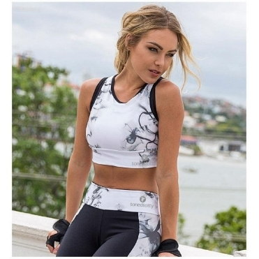'All Daisy Long' Supplex Sports Crop Top