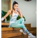 'All The Wave' Funky Print Supplex Fitness Leggings