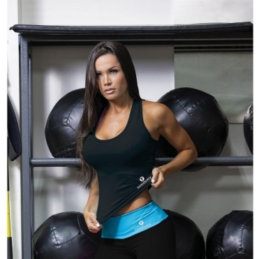BACK IN STOCK! Longer Length 'Fit-Chick' Black Fitness Top