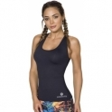 BACK IN STOCK! Longer Length 'Fit-Chick' Black Fitness Top