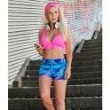 'Beach Bum' Supplex Gym Shorts Pole Shorts
