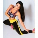 Black and Yellow 'Ritzy' Fitness Leggings