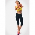 Black 'Beatz' Supplex Capri Gym Leggings