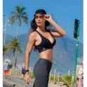 Black Cosmopolitan Supplex Fitness Bra Top