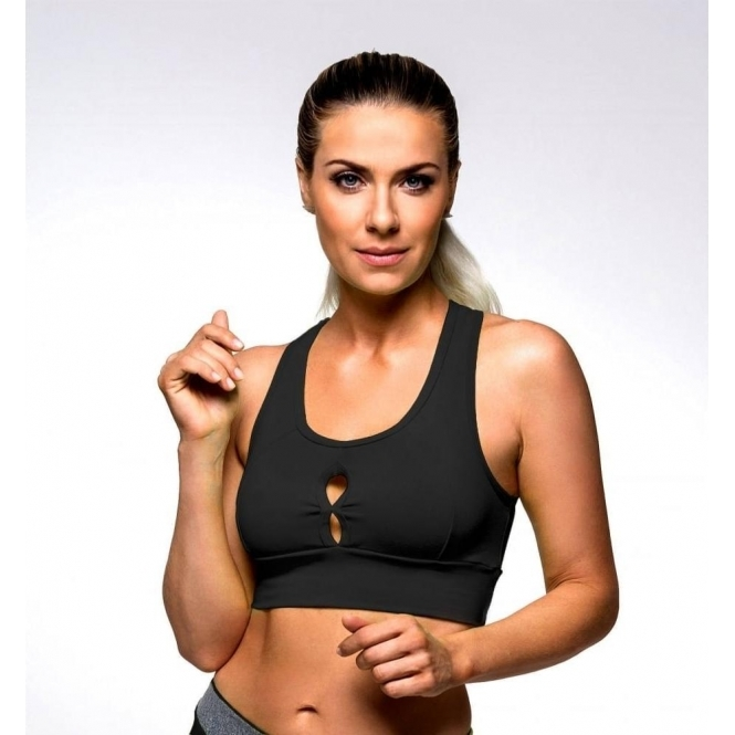 Black 'Fruit Salad' Supplex Sports Bra Top