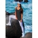 Black 'Lady Godiva' Fitness Fashion Vest Top