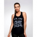 Black 'New York' Fitness Vest Top