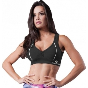 Black Open Back 'Dolly' Sports Bra