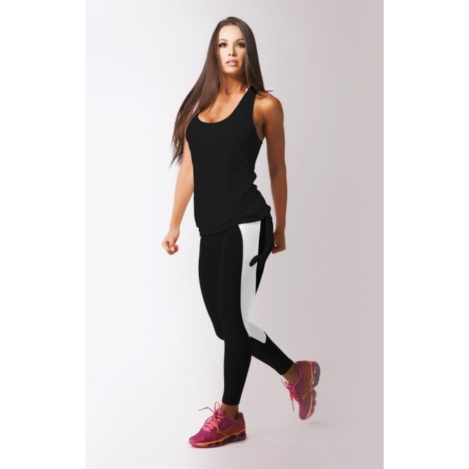 Black 'Primo' Mesh Panel Fitness Leggings