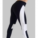 Black/White 'Idol' Lycra Sport Running Tights