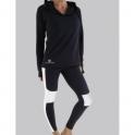 Black/White 'Idol' Lycra Sport Running Tights