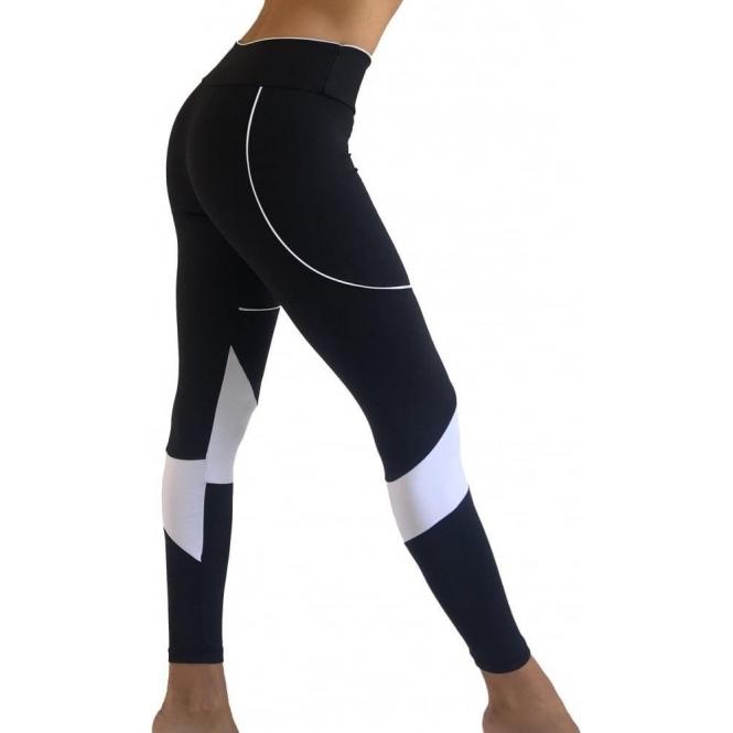 Black & White 'Skinny Dippin' Sport Light Running Tights