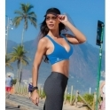 Blue Cosmopolitan Supplex Sports Bra Top