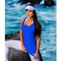 Blue 'Lady Godiva' Fitness Fashion Vest Top