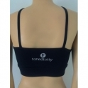 'Bondi' Supplex Black Sports Bra Top