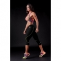 'Boogie' Capri Fitness Leggings Black/Neon