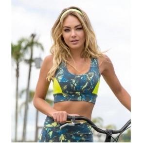 'Bora Bora' Supplex Sports Bra Top