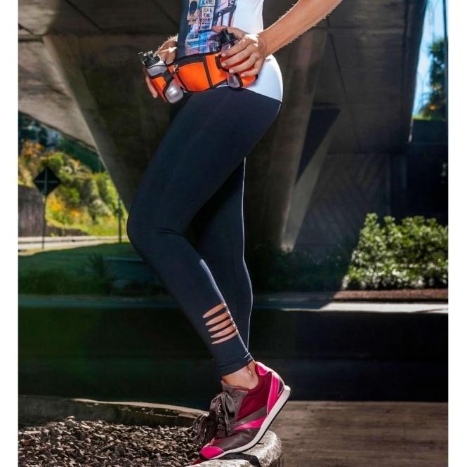 'Bossgirl' Supplex Black Fitness Leggings