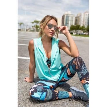 'Calypso' Print Supplex Gym Leggings