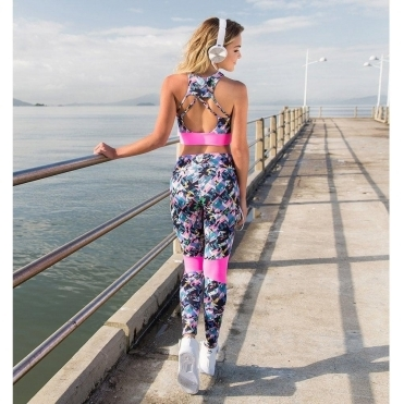 'Candy Floss' Print Fitness Leggings