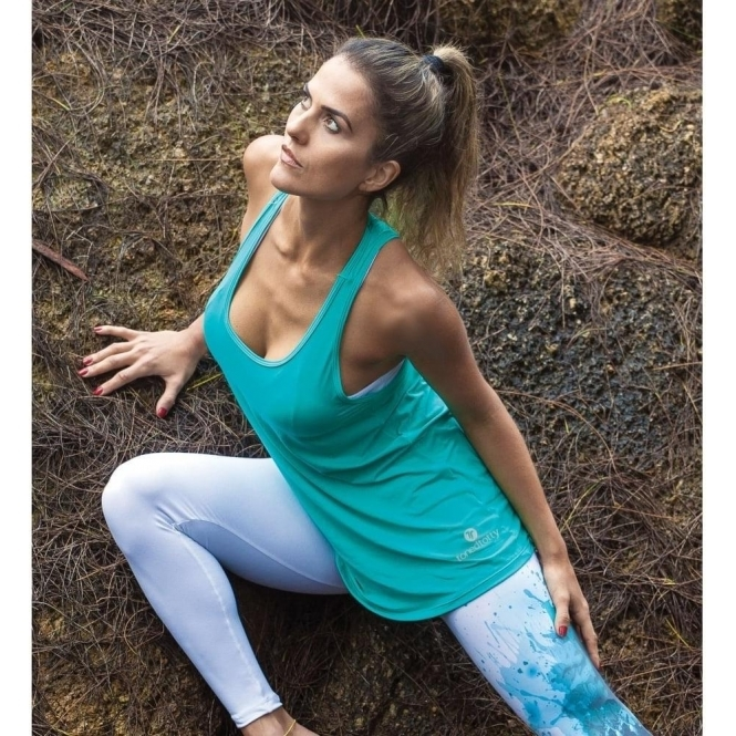 Caribbean Sea Swing Style Fitness Vest Top