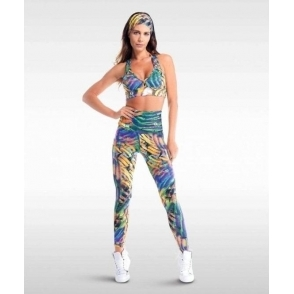 'Club Tropicana' High Waisted Light Fitness Leggings