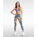 'Club Tropicana' High Waisted Light Fitness Leggings