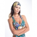 'Club Tropicana' Light Multi Print Bra Top