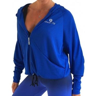 Cobalt 'Blue My Mind' Oversized Boyfriend Jacket
