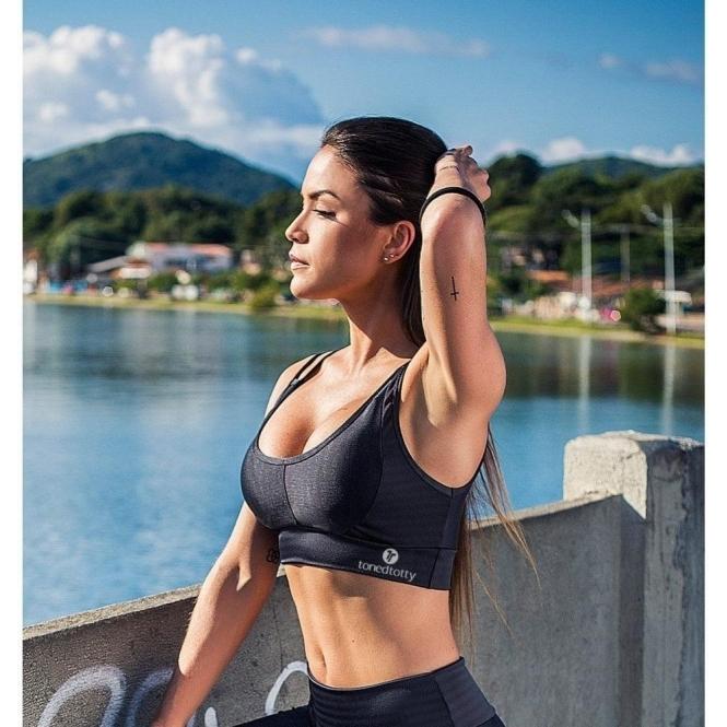 'Coco' Black Sports Bra top