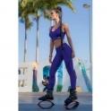 'Coco Blue' Subtle Print Fitness Leggings