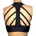 'Coco Noir 2' Strappy Back Fitness Bra top