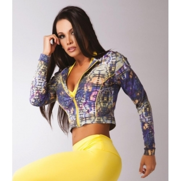 'Copacabana' Crop Supplex Fitness Jacket