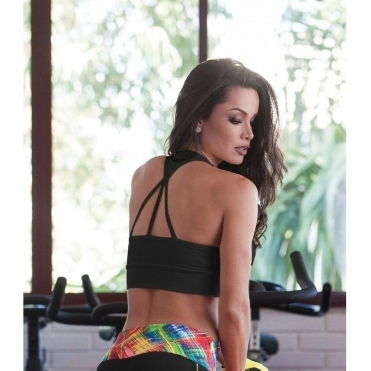 'Cover Girl' Supplex Sports Bra Top