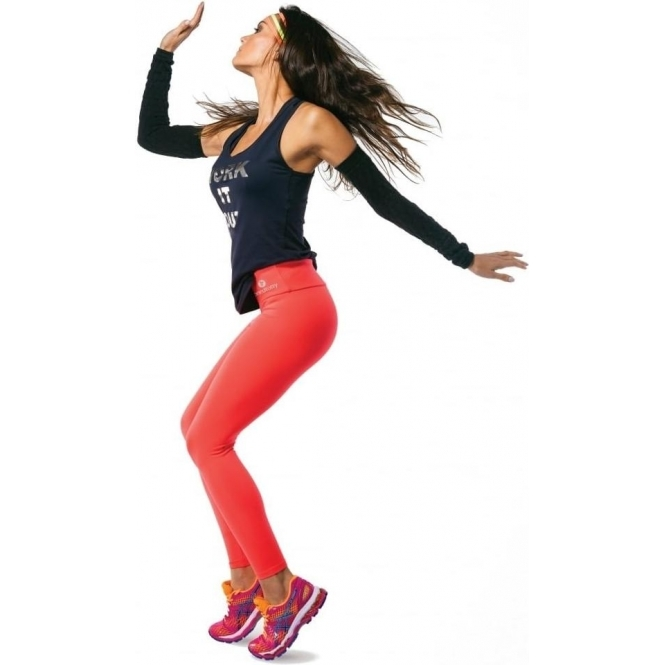 'Cute As A Button' Neon Coral Supplex Fitness Leggings