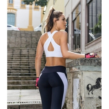 Deluxe 'Guilty Pleasure' White Sports Bra