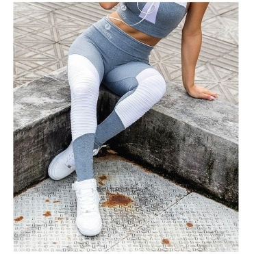 'Dilly Dally' Grey Supplex Fitness Leggings