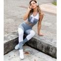 'Dilly Dally' Grey Supplex Fitness Leggings