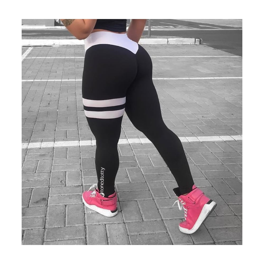 08de51d82d15f Luxury Black and White Gym leggings, quality gym leggings
