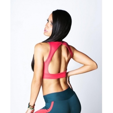 'Dollbaby' Open Back Fitness Bra Top