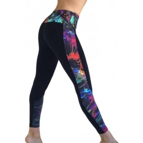 'Electri-Cute' Half Print Supplex Gym Leggings