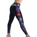 'Electri-Cute' Half Print Supplex Gym Leggings
