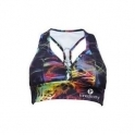 'Electri-Cute' Printed Supplex Sports Bra