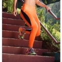'Flair' Orange Supplex Fitness Leggings