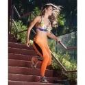 'Flair' Orange Supplex Fitness Leggings