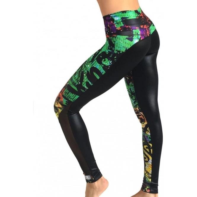 'Freestyler' Print Fitness Leggings Long Leg