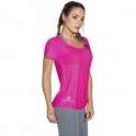 Fuschia Pink Short Sleeve Sports Fitness Top