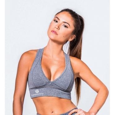 Grey Mescla Supplex Sports Bra